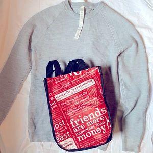 Lululemon simply wool sweater & shopping bag